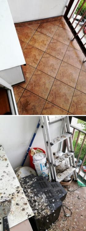 Sprzątanie balkonów po gołębiach