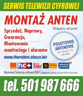 Montaż anten TV SAT DVB-T 501987666, Nowa Sól, oferta