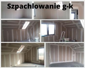 Szpachlowanie płyt g-k., Kraków, oferta