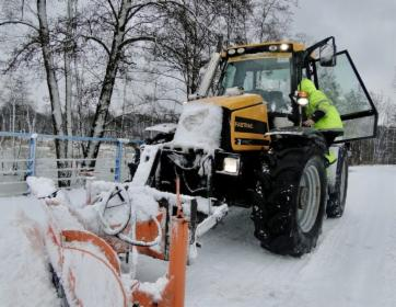 Odśnieżanie zimowe utrzymanie dróg i parkingów pług solarka