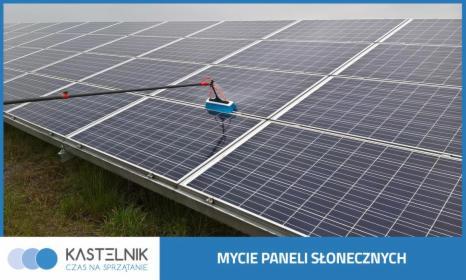 Mycie paneli słonecznych