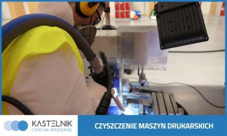 Czyszczenie maszyn drukarskich suchym lodem