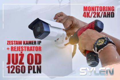 Instalacja 4 kamery + rejestrator