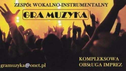 Zespół muzyczny GRA MUZYKA, Radocza, oferta