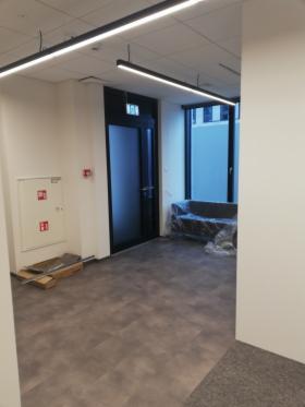 Budowa ścianek g/k z matriałem ( 15 cm, 2xgk, wełna, profile ościeżnicowe )