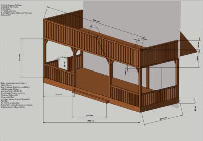 Wykonam Projekt Graficzny Tarasu 3D + Projekt Techniczny Do Urzędu