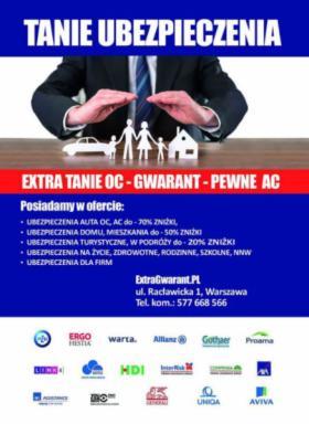 Ubezpieczenia na raty, Warszawa, oferta