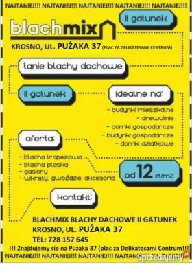 Tanie Blachy Dachowe, Krosno, oferta