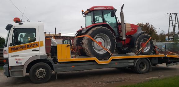 Transport maszyn rolniczych i budowlanych, transport koparek, transport Tir,  holowanie bu, Czarnków, oferta