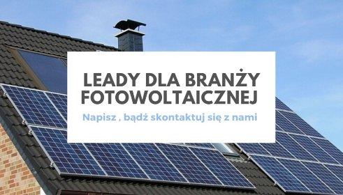 Leady dla branży OZE/PV, oferta