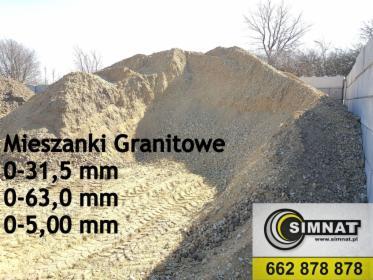 Mieszanka Granitowa 0-31,5 mm 0-63,0 mm