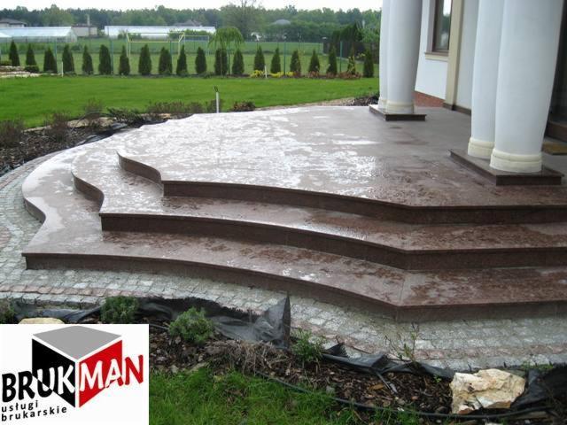 Tarasy, schody z płyt granitowych Strzegom - Oferta nr 69767 - Oferteo.pl
