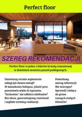 Montaż - układanie paneli szereg rekomendacji, Łódź, oferta