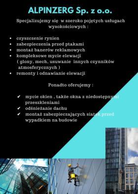 Pracę wysokośćowe, Warszawa, oferta