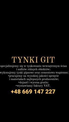 Usługi tynkarskie GIT, Suwałki, oferta