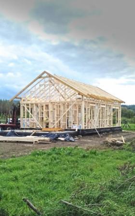 Kompletne konstrukcje szkieletowe budynków jednorodzinnych