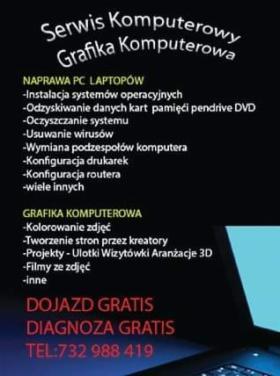 Naprawa Pc Laptopów grafika, Płock, oferta