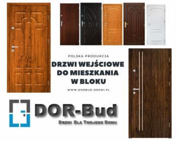 Drzwi wewnątrz-klatkowe do mieszkania w bloku, oferta