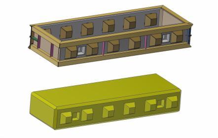 Formy metalowe blok lego 180x60x30, oferta