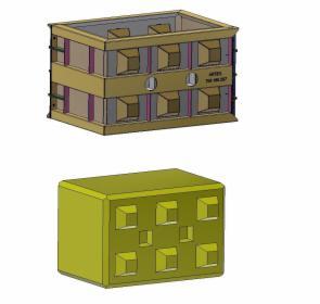 Formy metalowe blok lego 90x60x60, oferta