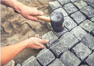 Brukowanie / układanie kostki brukowej / płyty betonowe