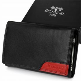 BELTIMORE portfel skórzany damski RFiD skóra karty 038