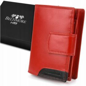 BELTIMORE portfel skórzany damski RFiD skóra karty 039
