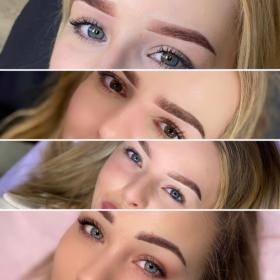 Makijaż permanentny brwi: metoda pudrowa, ombre, daddy brows, Kaczory, oferta