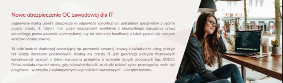 Nowe ubezpieczenie - OC ZAWODOWE IT