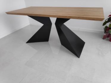 Stół dębowy, industrialny, rozkładany loft, stalowe nogi 180-260x80x4, Rumia, oferta