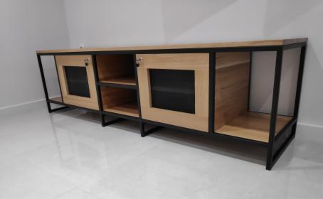 Szafka RTV, Loft, mebel industrialny, drewno półka dębowa cichy domyk, Rumia, oferta