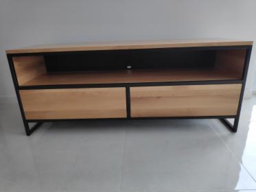 Szafka RTV, półka, komoda, loft, meble industrialne, lite drewno, dąb, Rumia, oferta
