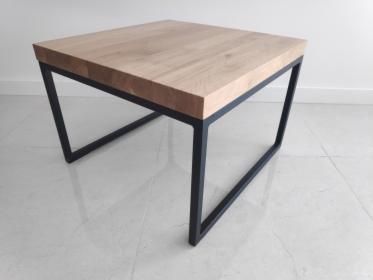 Stolik kawowy industrialny loft dębowy stalowo-drewniany 54x54x4,5 cm, Rumia, oferta