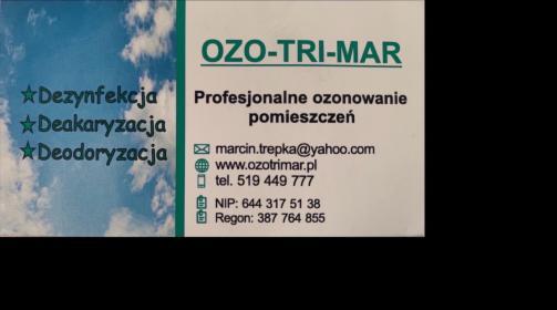 Ozonowanie dezynfekcja SARS-COV2, Sosnowiec, oferta