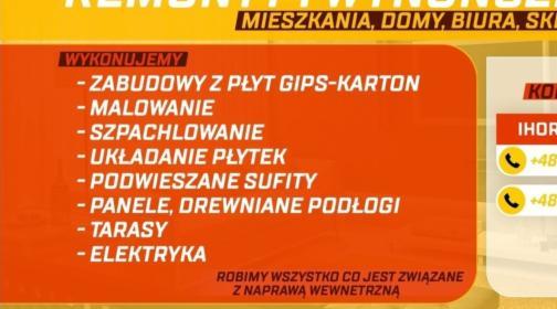 remonty i wykończenia, Poznań, oferta