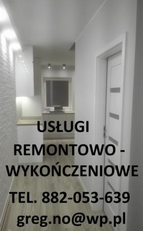 Usługi wykończeniowo-remontowe, Wrocław, oferta