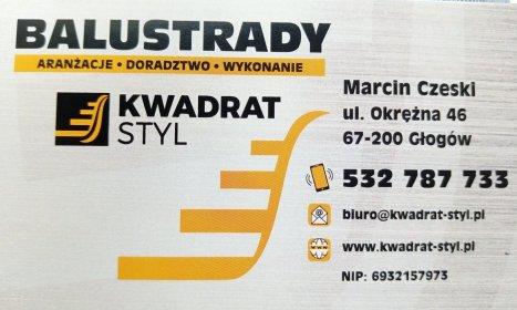Balustrady Kwadrat Styl