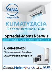Sprzedaż Montaż Serwis Klimatyzacji i Pomp Ciepła, oferta