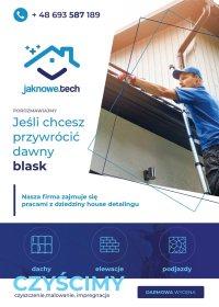 Mycie kostki, elewacji I dachu
