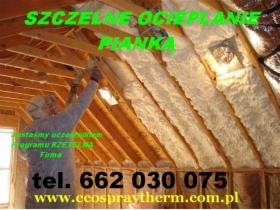Ocieplenie poddasza dachu Pianką Natryskowo, oferta