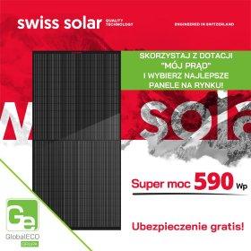 Szwajcarskie panele o super mocy 590 Wp