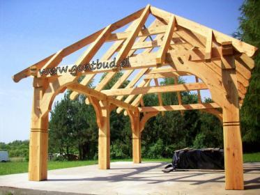 Wiata drewniana 6x4m konstrukcja altany altanki ogrodowej