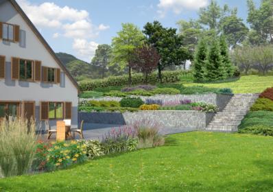 Projekt ogrodu, tarasu, balkonu