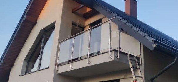 Balustrada aluminium + szkło bezpieczne + montaż, oferta