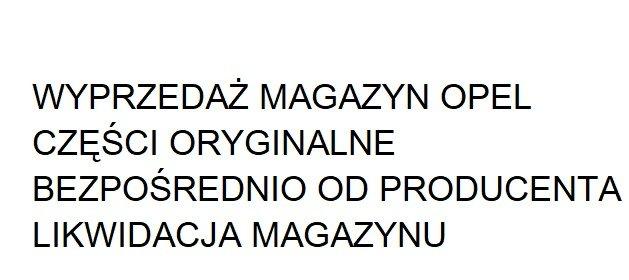 Stok magazynowy oryginalne części Opel, oferta