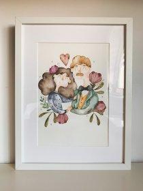 Portret w kwiatach A3, oferta