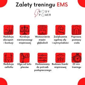 Trening EMS - elektrostymulacja mięśni, oferta