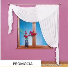 Berta firanka szyta z woalu 250 x 200 cm kolor biały lustro, Tarnobrzeg, oferta