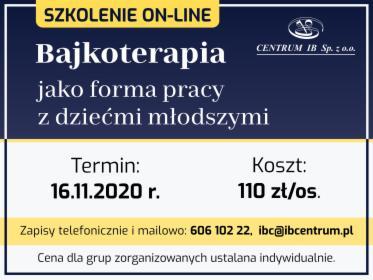 Szkolenie on-line Bajkoterapia, Kraków, oferta