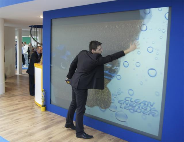 Masywnie interaktywna podłoga, interaktywna ściana, interaktywna OB61